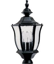 Maxim Lighting 1015 Madrona 3 Light Outdoor Post Lamp
